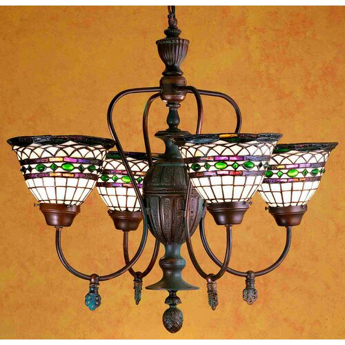 Tiffany Roman 4 Light Chandelier