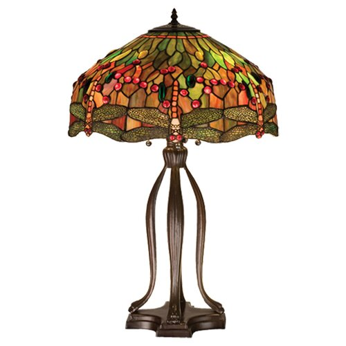 Meyda Tiffany Tiffany Hanging Head Dragonfly Table Lamp