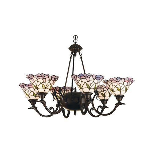 6 Light Victorian Daffodil Bell Chandelier