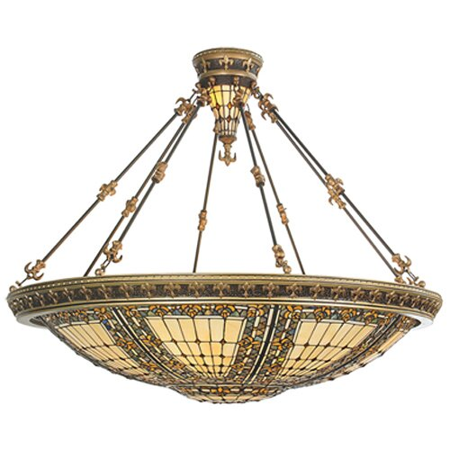 Fleur-De-Lis 10 Light Semi Flush Mount