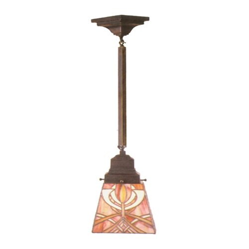 Meyda Tiffany Glasgow Bungalow 1 Light Mini Pendant