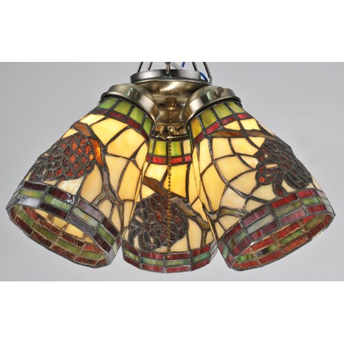 "Meyda Tiffany 4.5"" Pinecone Bell Ceiling Fan Fitter Shade"