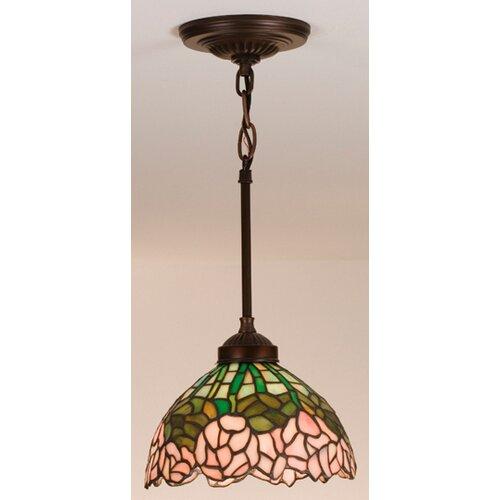 Tiffany Cabbage Rose 1 Light Mini Pendant