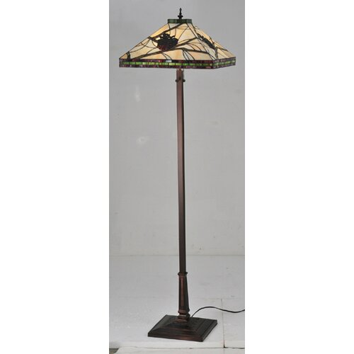 Meyda Tiffany Tiffany Pine Branch Mission Floor Lamp