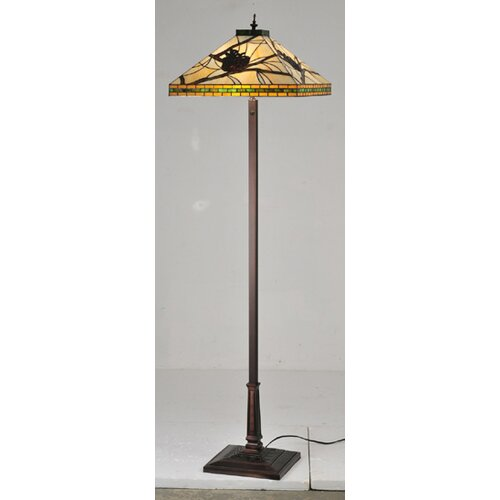 Meyda Tiffany Pine Branch Mission Floor Lamp