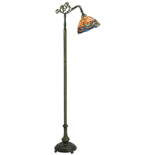 Meyda Tiffany Saturday Morning Bridge Arm Floor Lamp