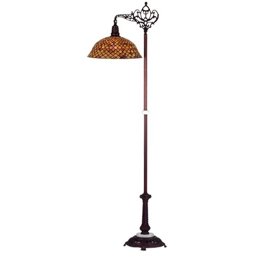 Meyda Tiffany Tiffany Fishscale Bridge Arm Floor Lamp