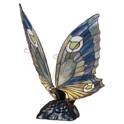"Meyda Tiffany Butterfly 15"" H Table Lamp"