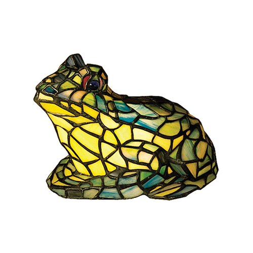 "Meyda Tiffany Frog Tiffany 7"" H Table Lamp"
