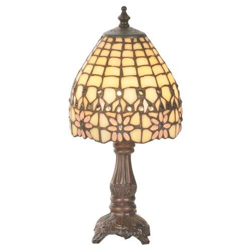 """Meyda Tiffany Victorian Flourish Mini 13"""" H Table Lamp with Bowl Shade"""