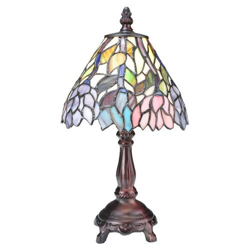 Meyda Tiffany Wisteria Tiffany Floral Mini Table Lamp