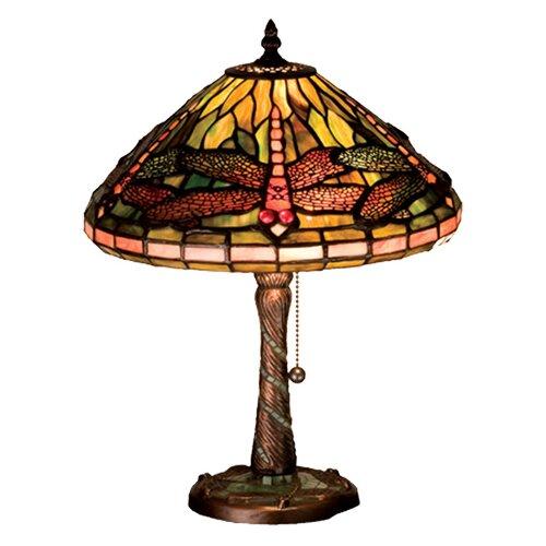 "Meyda Tiffany Tiffany 16"" H Dragonfly Accent Table Lamp"
