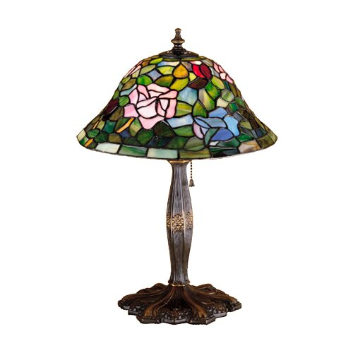 Meyda Tiffany Tiffany Floral Rosebush Accent Table Lamp