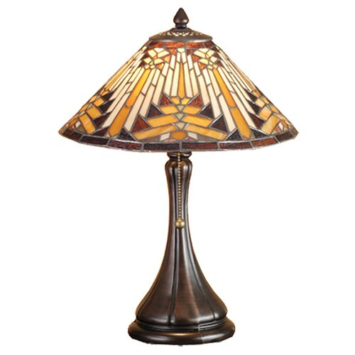 "Meyda Tiffany Nuevo Mission 18"" H Circular Accent Table Lamp"