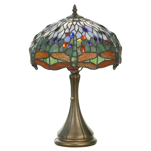 Meyda Tiffany Tiffany Animals Nouveau Insects Hanginghead Dragonfly Table Lamp
