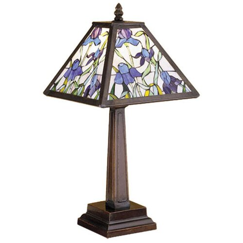 Meyda Tiffany Iris Mission Mosaic Accent Table Lamp