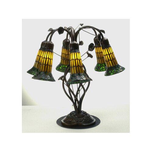 "Meyda Tiffany Tiffany 19"" H Pond Lily 6 Light Table Lamp"