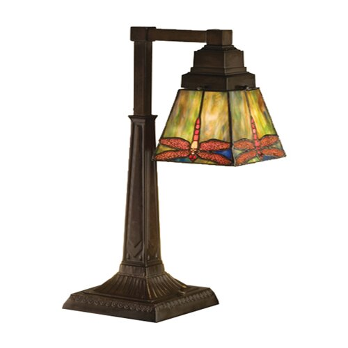 "Meyda Tiffany Prairie Dragonfly 19.5"" H 1 Light Table Lamp"