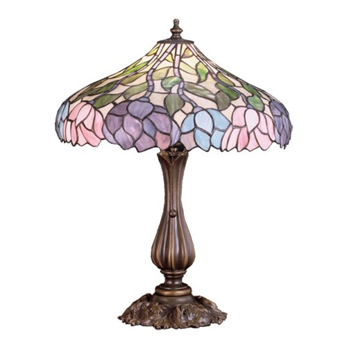 "Meyda Tiffany Wisteria 20"" H Table Lamp"