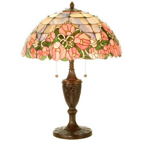 "Meyda Tiffany Cabbage Rose 24"" H Table Lamp"
