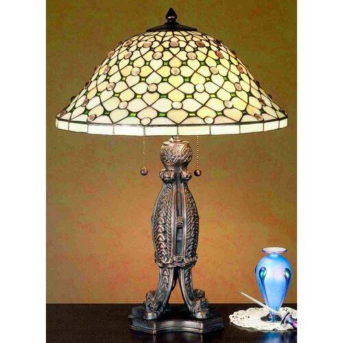 "Meyda Tiffany Diamond and Jewel 24"" H Table Lamp"
