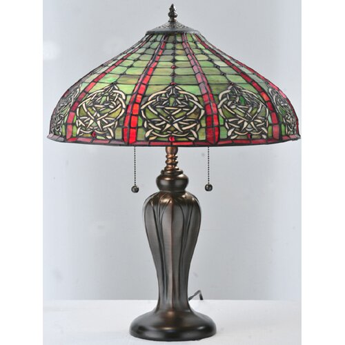"Meyda Tiffany Dublin 24"" H Table Lamp with Bowl Shade"