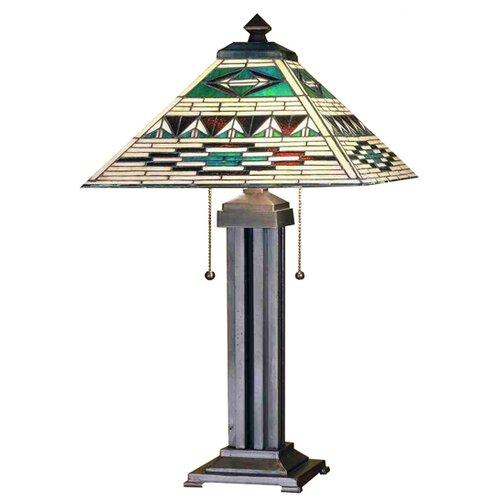 "Meyda Tiffany Valencia Mission 24"" H Table Lamp with Square Shade"