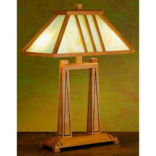 "Meyda Tiffany Forestwood Oblong 25"" H Table Lamp with Rectangle Shade"