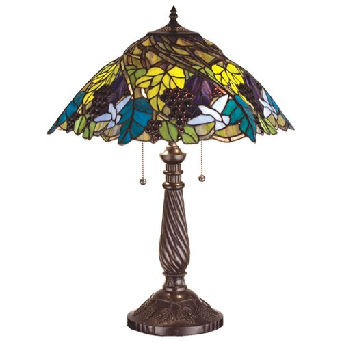 Meyda Tiffany Spiral Grape Table Lamp