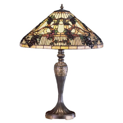 Meyda Tiffany Jeweled Grape Table Lamp
