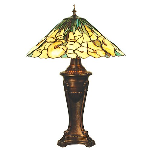 "Meyda Tiffany Tiffany Cowslip 29"" H Table Lamp with Bowl Shade"