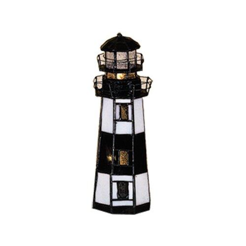 "Meyda Tiffany Montauk Point Lighthouse 9.5"" H Table Lamp"