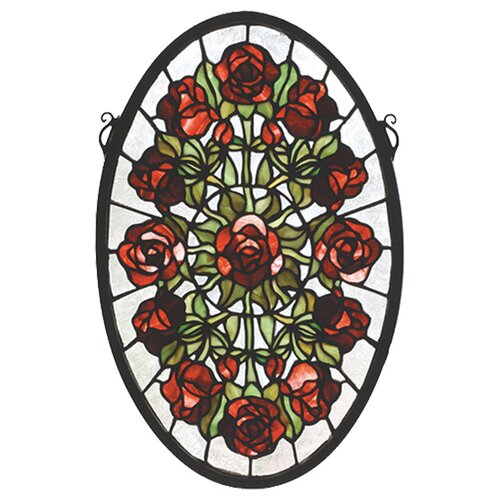 Meyda Tiffany Tiffany Rose Garden Stained Glass Window