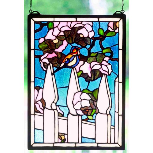 Meyda Tiffany Picket Fence Stained Glass Window