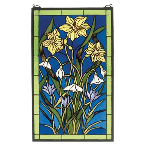 Meyda Tiffany Spring Bouquet Stained Glass Window