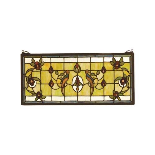 Meyda Tiffany Victorian Lancaster Stained Glass Window