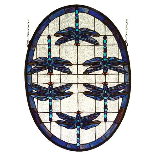Meyda Tiffany Dragonflies Stained Glass Window