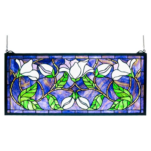 Meyda Tiffany Magnolia Stained Glass Window