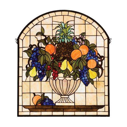 Meyda Tiffany Victorian Fruitbowl Stained Glass Window