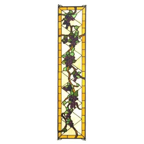 Meyda Tiffany Jeweled Grape Stained Glass Window