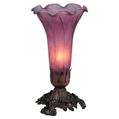 "Meyda Tiffany Victorian 8"" H Pond Lily Accent Table Lamp"