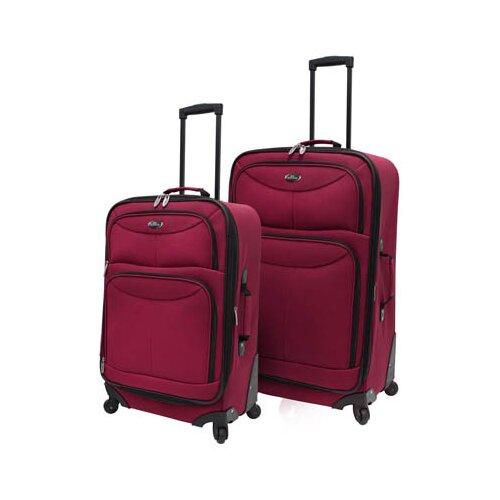 U.S. Traveler Fashion 2 Piece Spinner Luggage Set