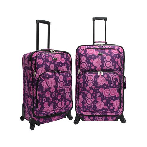 U.S. Traveler Fashion 2 Piece Spinner Luggage Set