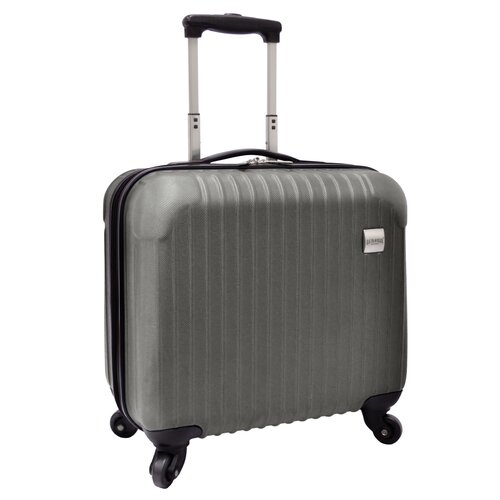 U.S. Traveler Beauvais Carry-On Spinner Laptop Attache Case