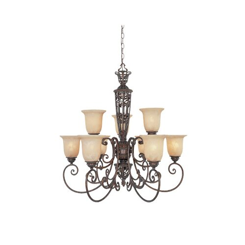 Designers Fountain Amherst 9 Light Chandelier