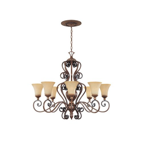 Montreaux 8 Light Oval Chandelier