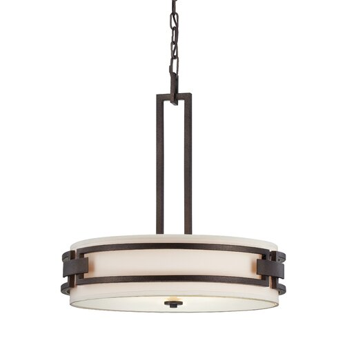 Del Ray 3 Light Drum Pendant