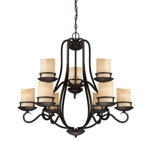 Designers Fountain Lauderhill 9 Light Chandelier