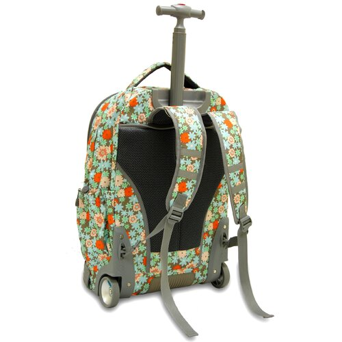 J World Sunburst Laptop Rolling Backpack