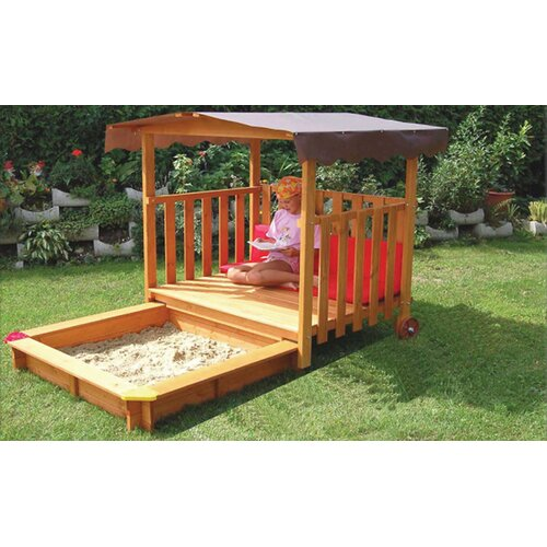 Exaco Playhouse Rectangular Sandbox